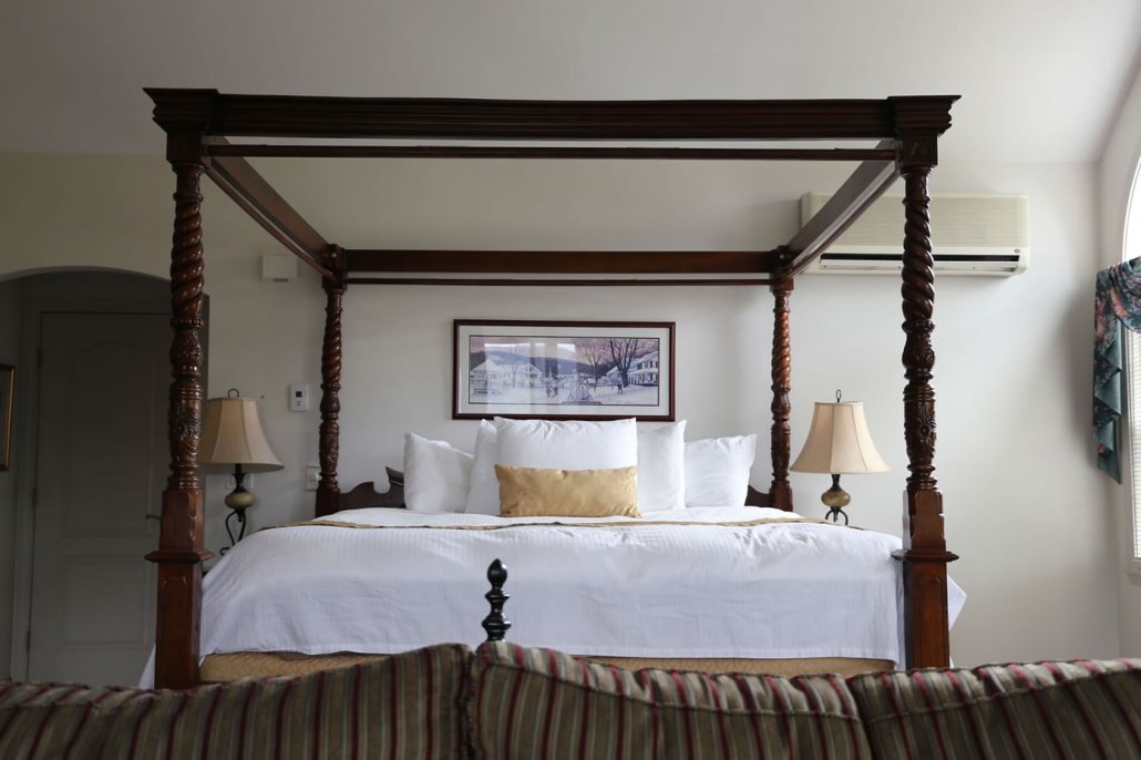 Nordic Village Guest Room with 4 Poster Bed