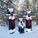 Bears In Snow At Nordic Village Entrance